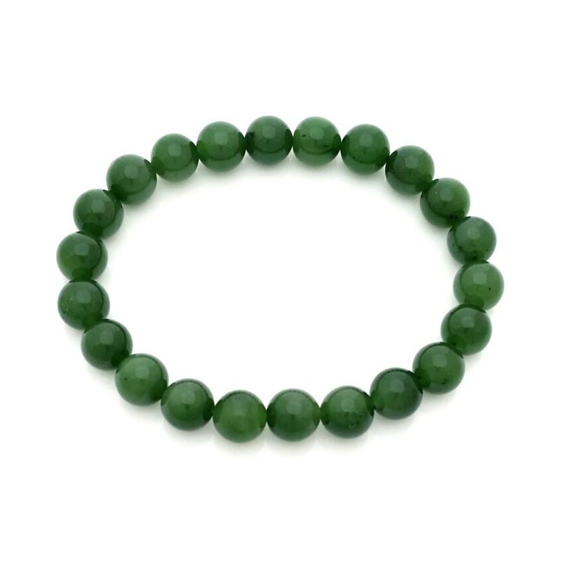 100% Natural Hetian Green Jade Nephrite Feng Shui Bracelet