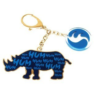 Blue Rhinoceros with Hum Keychain