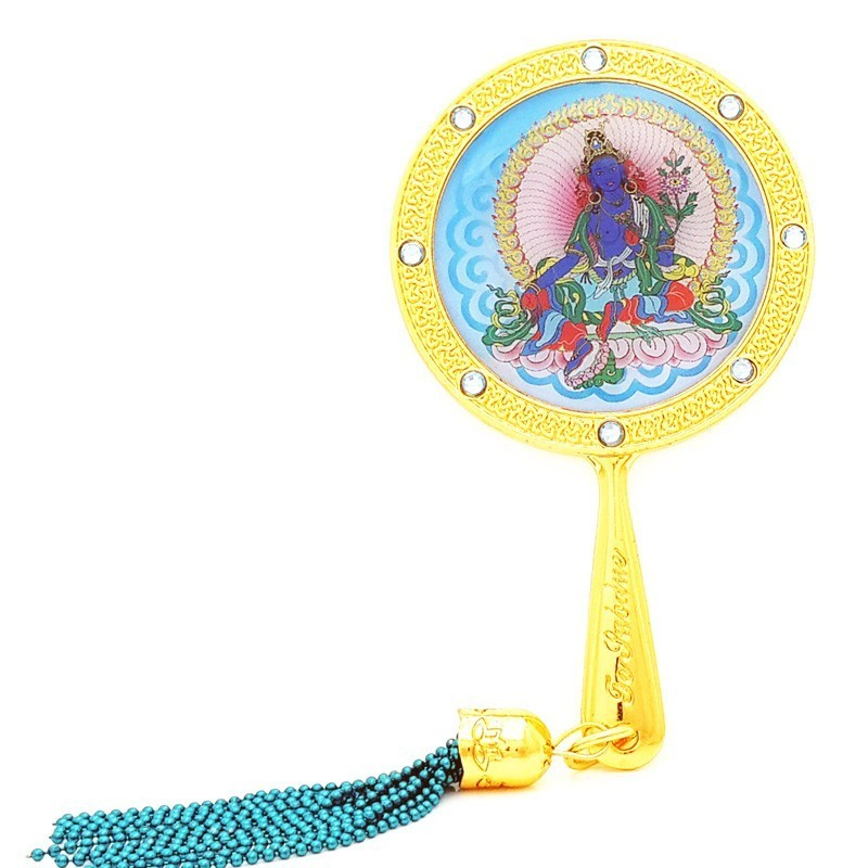 Blue Tara Mirror Amulet for Subduing Violence and Dark Spells