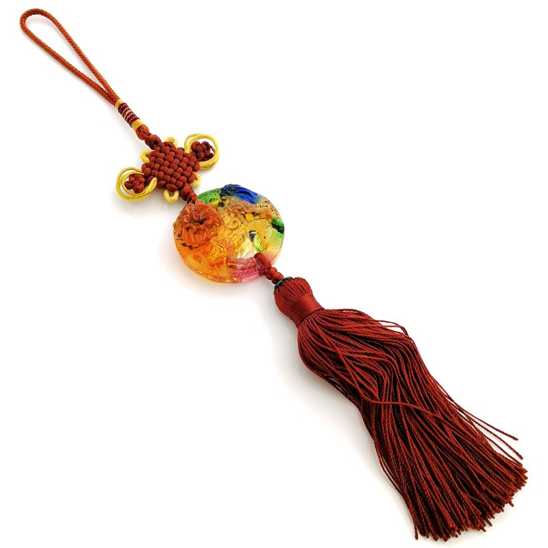Chi Lin Luili Crystal Tassel for Good Fortune and Protection