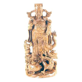 Chai Shen Yeh Carving For Wealth and Prosperity( God of Wealth )