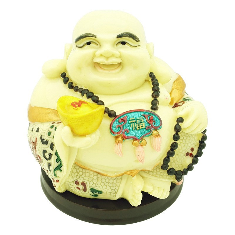 Happy Buddha Holding a Gold Ingot