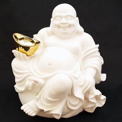 Laughing Buddha Holding a Gold Ingot