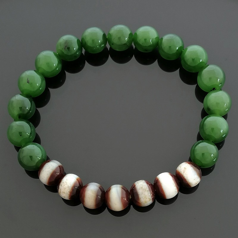 The Medicine Buddha Dzi Beads Bracelet for Health Luck