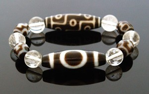 The Royal Three Dzi Beads Bracelet for Good Fortune