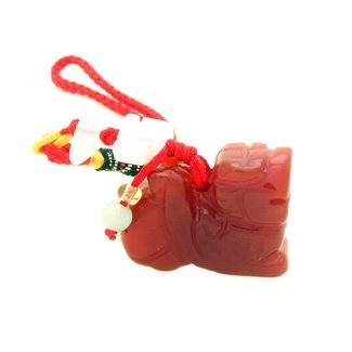 Pi Yao Tassel for Wealth and Protection - Red Jade