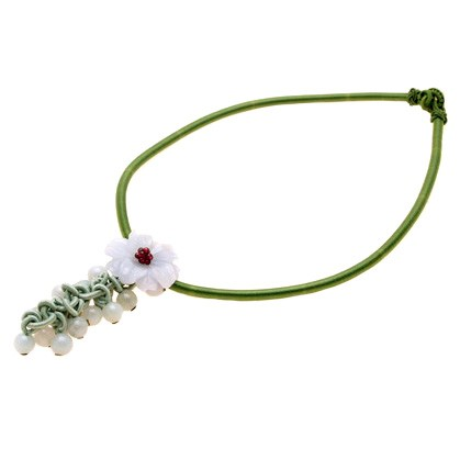 The Peony Jade Necklace - Light Green