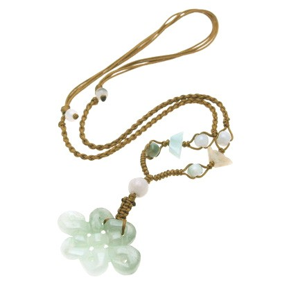 Jade Mystic Knot Necklace (Horizontal)
