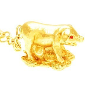The Golden Pig Keychain