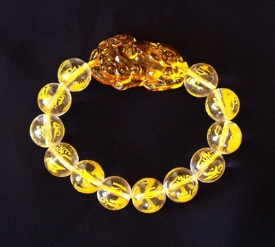 Citrine Pi Yao Bracelet for Protection and Good Fortune