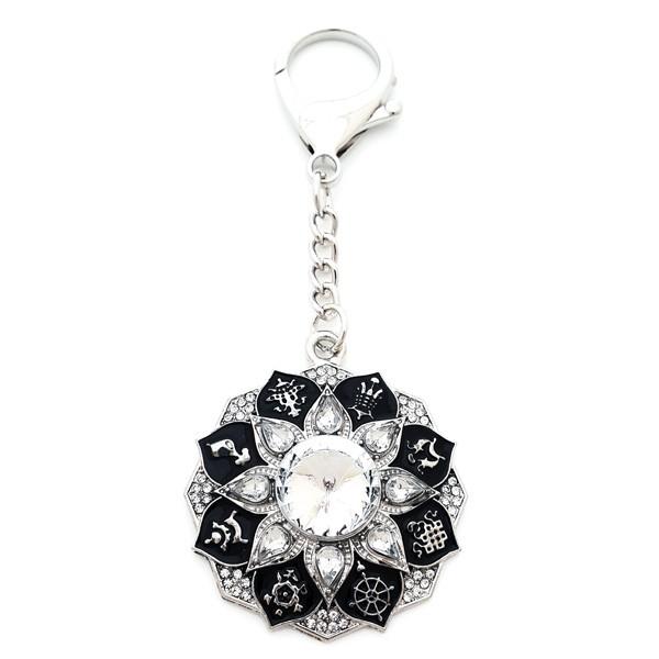 Radiating Abundance Diamond Amulet Keychain