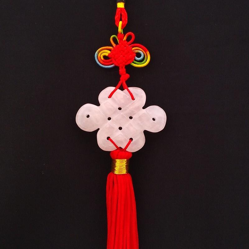 Rose Quartz Mystic Knot Tassel