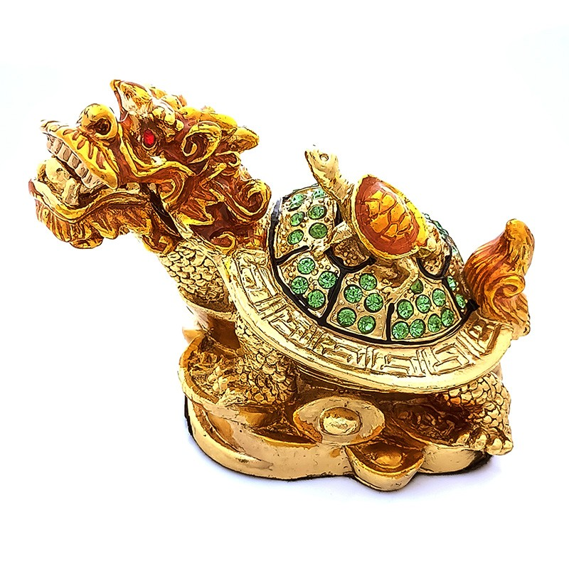 Bejeweled Dragon Tortoise for Great Good Fortune