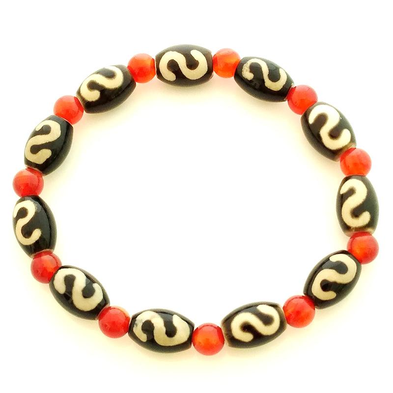 Money Hook Dzi Beads Bracelet