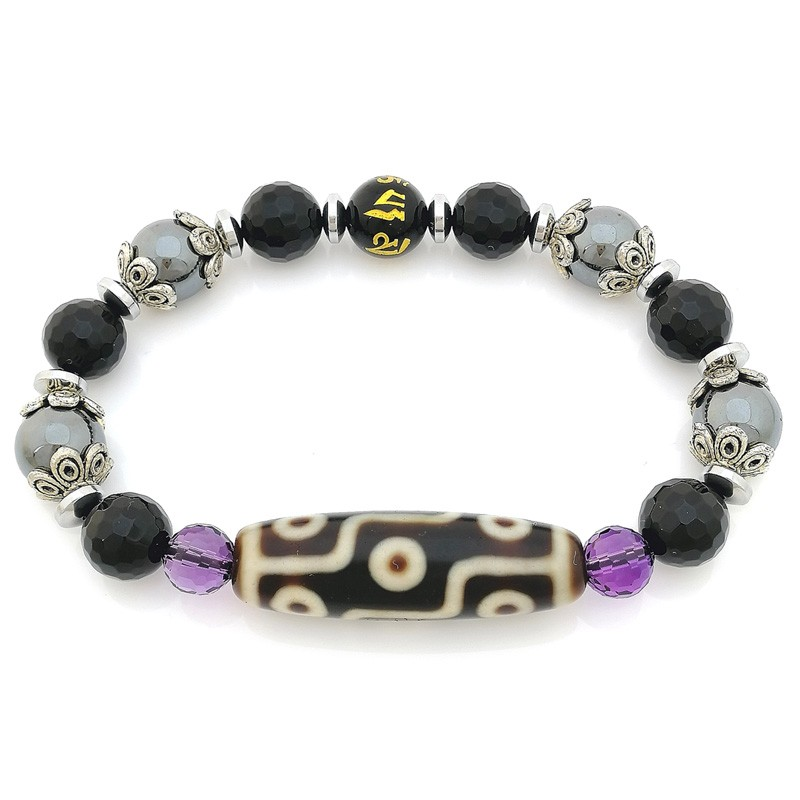 OLD Agate Nine-Eyed Dzi Bracelet