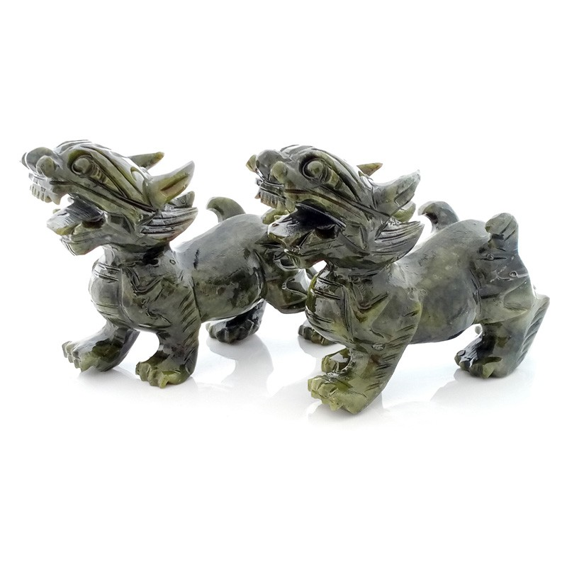 A Pair Of Jade Pi Yao For Protection and Good Fortune