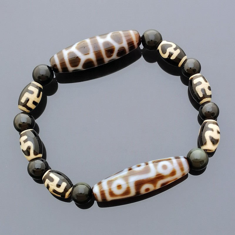 The SUPER Imperial Four Dzi Bead Bracelet