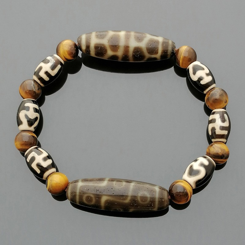 The SUPER Imperial Four Dzi Beads Feng Shui Wealth Bracelet