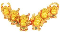 A Set Of Laughing Buddha - 6pcs
