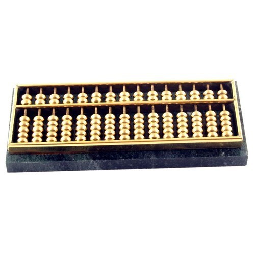 Brass Abacus with Marble