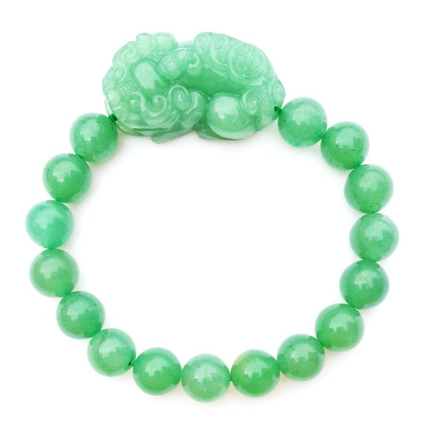Aventurine Pi Yao Bracelet Carving for Protection and Good Fortune