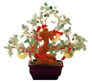 Aventurine Tree with 8 Gold Coins For Good Fortune ( Special Offer )