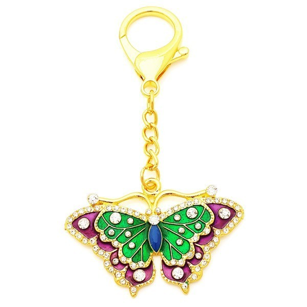 Wish-Fulfilling Butterfly Amulet Keychain