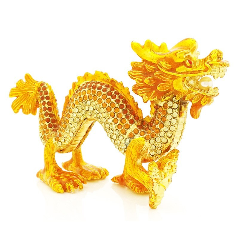 Bejeweled Dragon for Good Fortune
