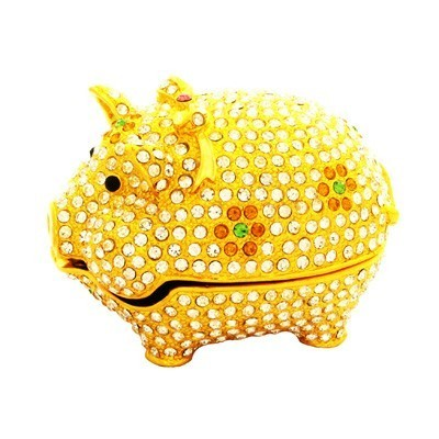 Bejeweled Pig for Abundance and Happiness