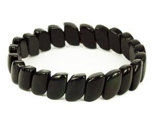 Black Obsidian Bracelet - Leaf Shape