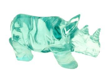 Blue Obsidian Rhinoceros for Protection