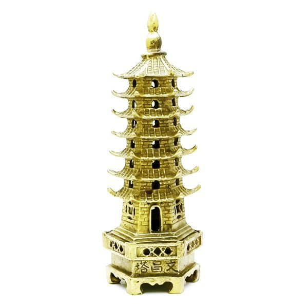 Bronze 7-Level Wen Chang Pagoda