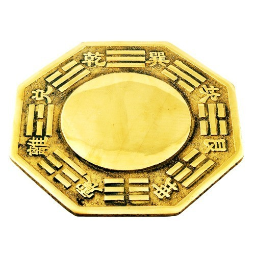 Feng Shui Brass Bagua Mirror