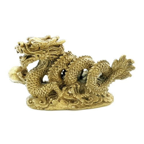 Bronze Mini Dragon Grasping a Pearl