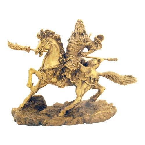 Bronze Kwan Kung on Horse