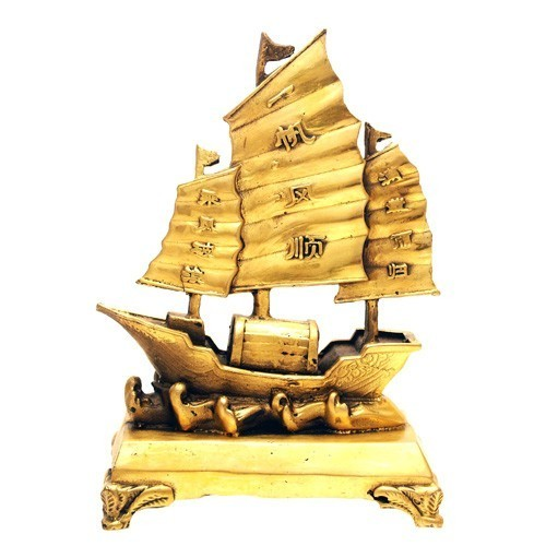 Bronze Sailing Merchant Ship of Wealth