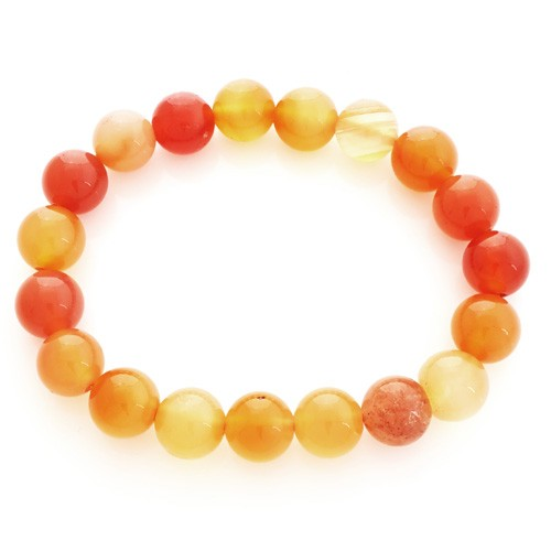 Carnelian Bracelet for Happiness - 10mm