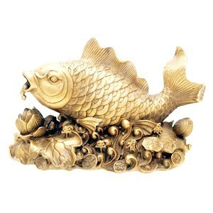 Bronze Auspicious Carp Fish For Good Fortune