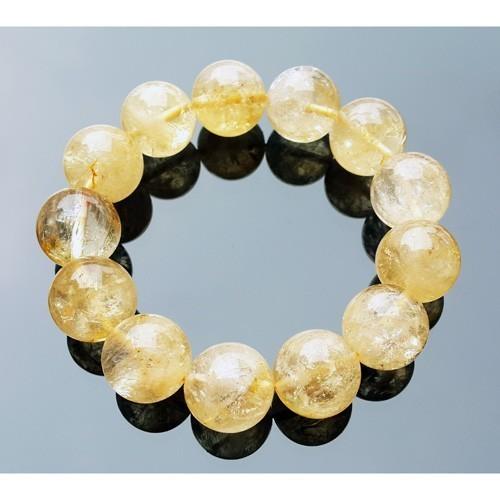 16mm Natural Citrine Bracelet for Super Wealth