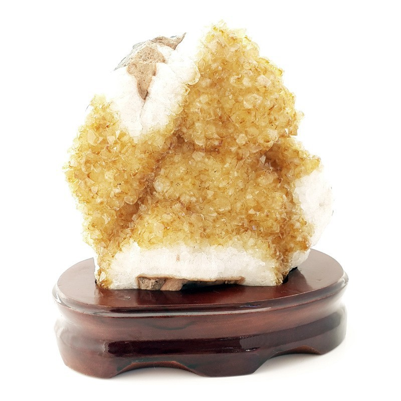 Natural Citrine Geode for Great Wealth and Prosperity Luck