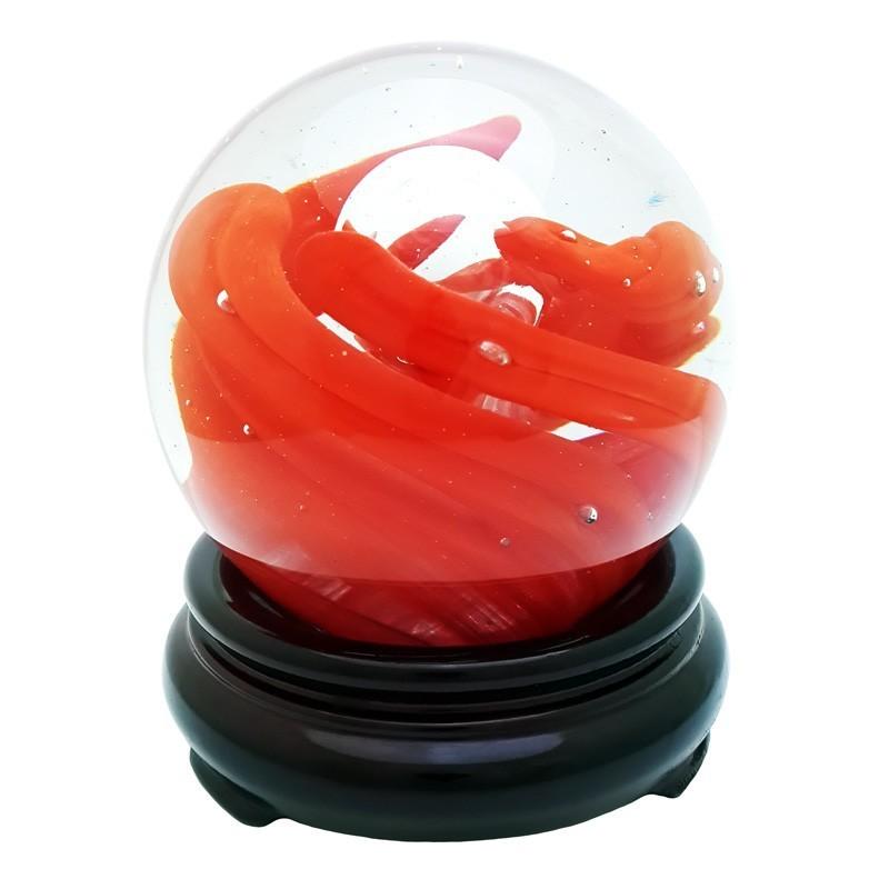 Crimson Red Crystal Sphere