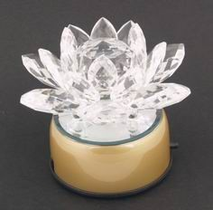 Crystal Lotus on a Rotating Stand (110 V)
