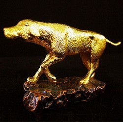 24K Gold Plated Dog Figurine