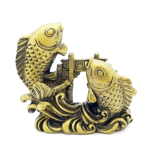 Double Carps Crossing Dragon Gate - Bronze