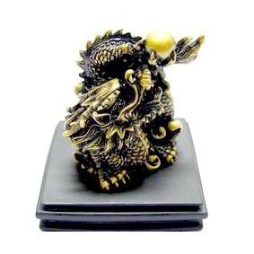 Celestial Dragon Grasping Pearl - Bronze