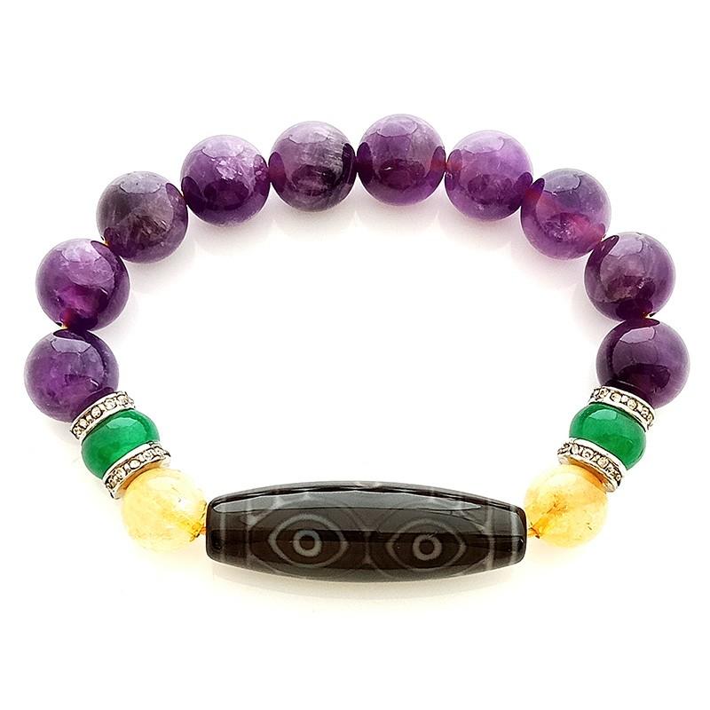 Dragon Eye Dzi Bracelet for Success and Happiness