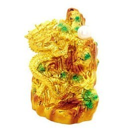 Golden Dragon on Mountain