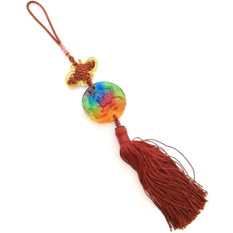 The Dragon and Phoenix with Double Happiness Tassel