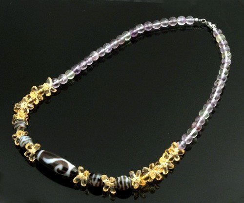 The Precious Royal Three Dzi Beads Necklace for Good Fortune and Super Wealth Luck