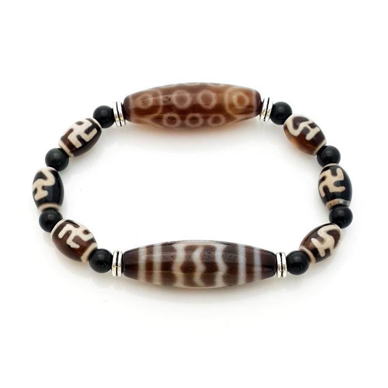 The ROYAL Tetrad Dzi Beads Bracelet